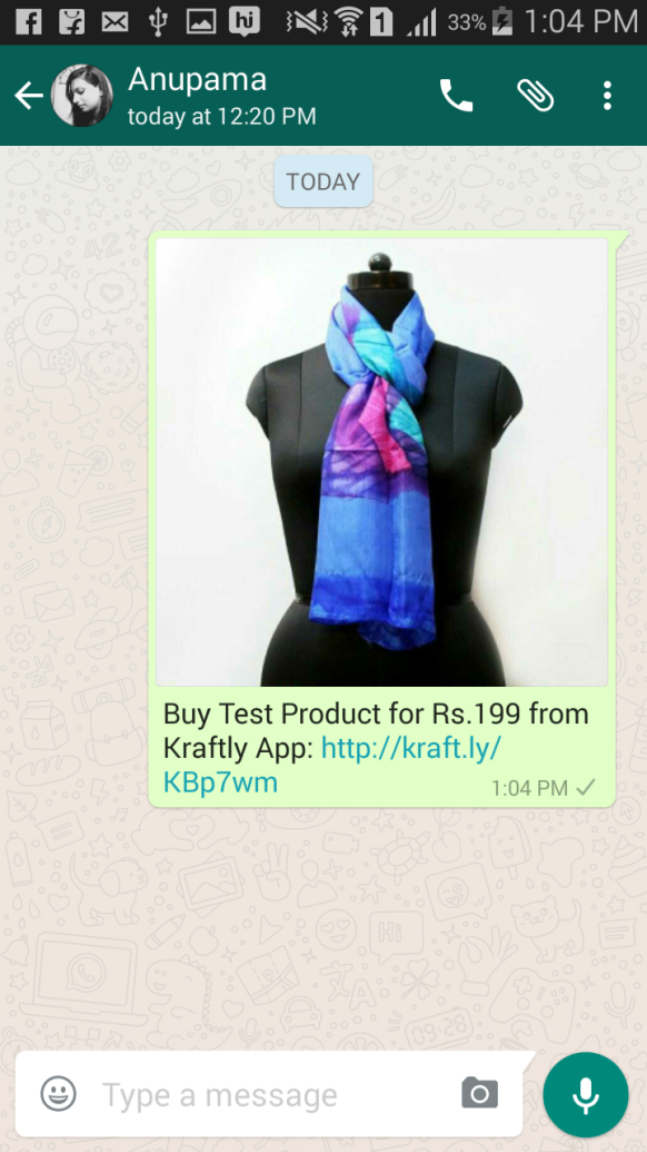 Kraftly - Sell using WhatsApp