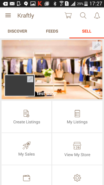 Go to Sell and click on Create Listing to start listing your products