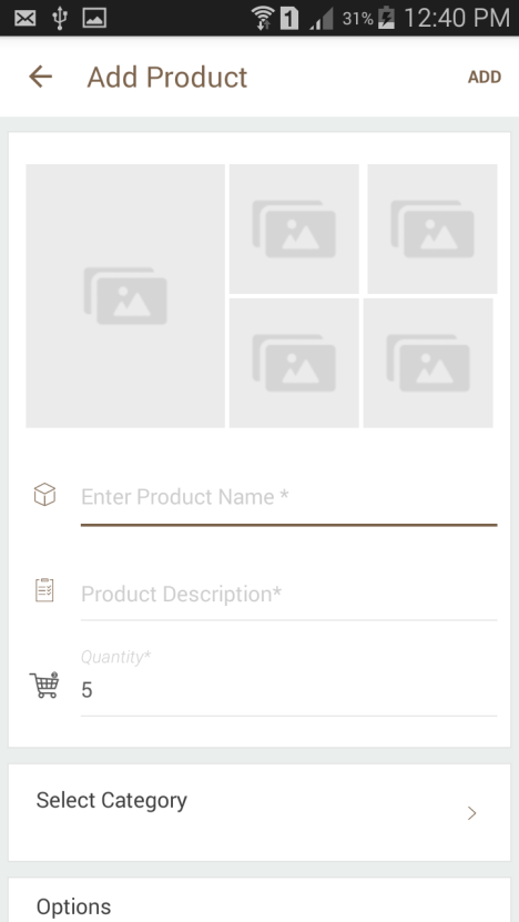Upload your product images